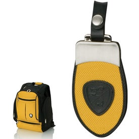 Logo Yellow and Black Backpack