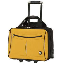 Yellow and Black Trolley Case for Marketing