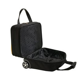 Imprinted Yellow and Black Trolley Case