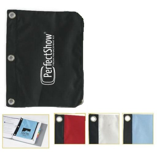 Zipped Pouch For 3 Ring Binder Customized