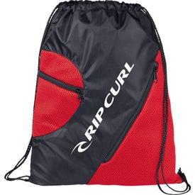 Zippered Mesh Cinch Bag