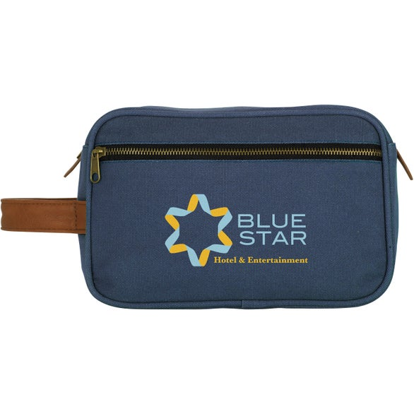 Navy Zippered Travel Bag
