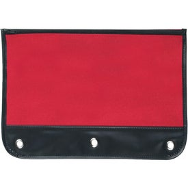 Zippered Pencil Case with Holes for Your Company
