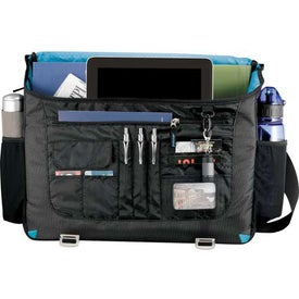 Monogrammed Zoom Checkpoint-Friendly Compu-Messenger Bag
