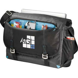 Zoom Checkpoint-Friendly Compu-Messenger Bag with Your Slogan