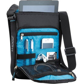 Monogrammed Zoom Media Messenger Bag For iPad