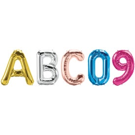 Letter, Number and Symbol-Shaped Microfoil Balloons (16