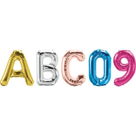 Letter, Number and Symbol-Shaped Microfoil Balloons (34