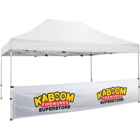 Premium Tent Half Wall Banner Kits (2 Locations)