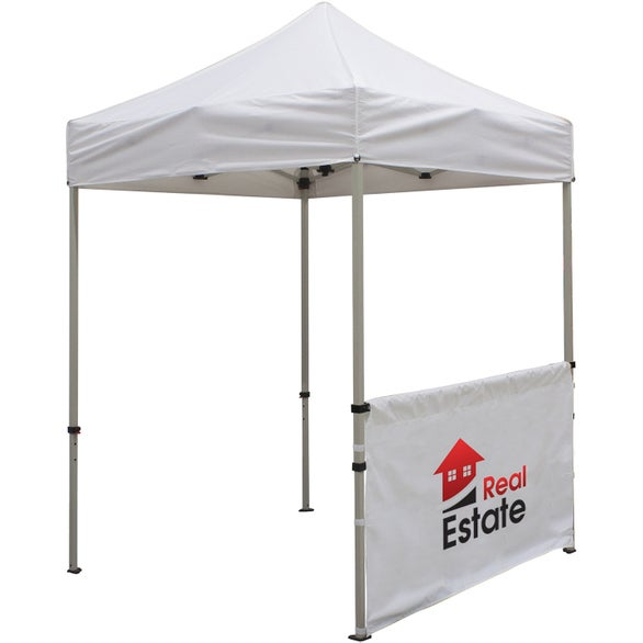 White Deluxe Tent Half Wall Banner Kit