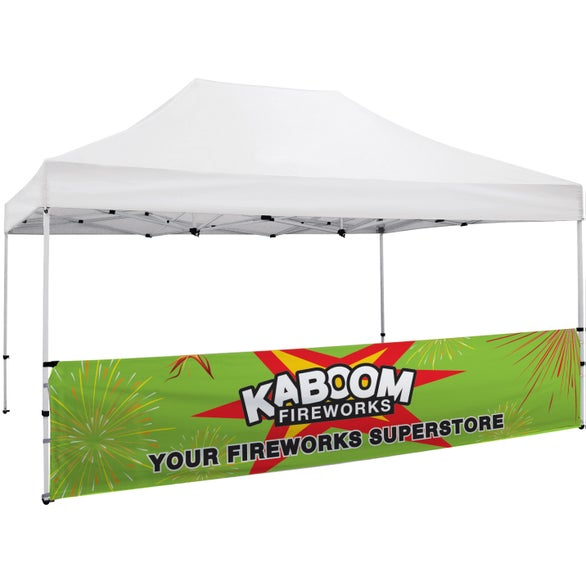 Full Color Imprint Premium Tent Half Wall Banner Kit
