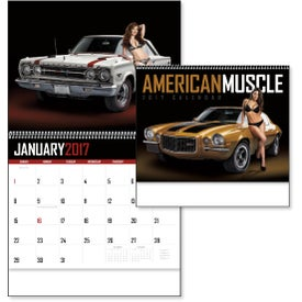 Imprinted 1854 American Muscle Wall Appointment Calendar