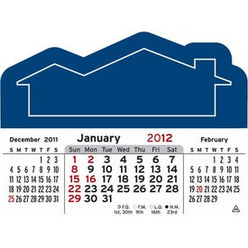3 Month Horizontal Calendar Pad with Your Slogan