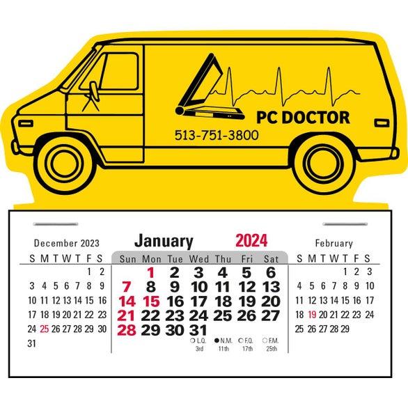 Gold 3 Month Horizontal Calendar Pad Giveaways