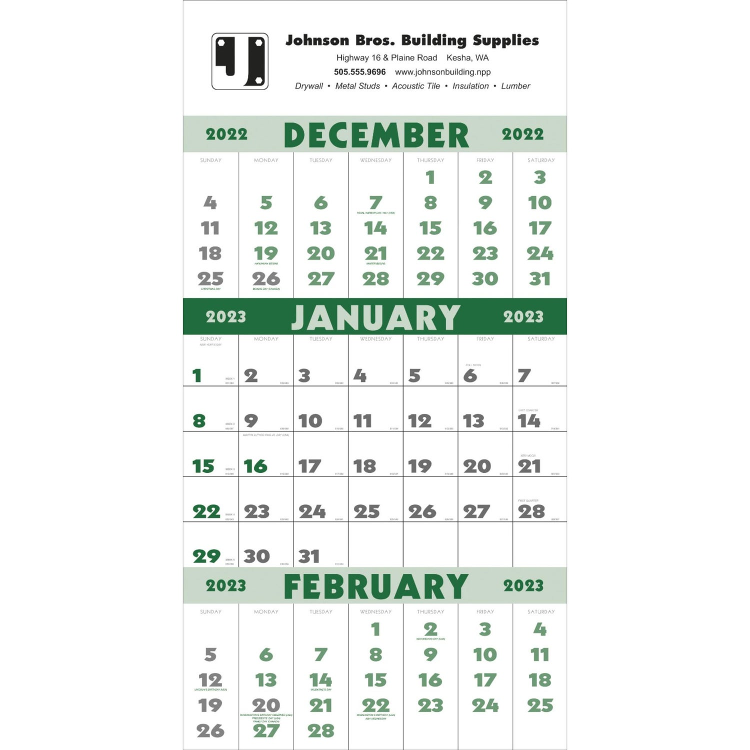 promotional 12 sheet 2019 3 month planner calendars with custom