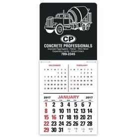 Branded 3 Month Vertical Super Size Press N Stick Calendar