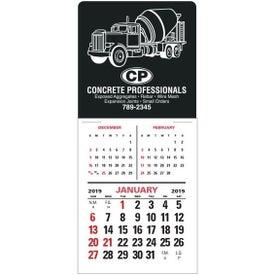 3 Month Vertical Super Size Press N Stick Calendar