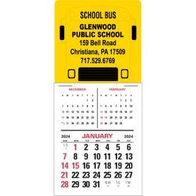 3 Month Vertical Super Size Press N Stick Calendar for Promotion