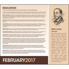 Printed African-American Heritage Calendar