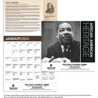 Mlk 2020 Calendar CLICK HERE to Order MLK Jr., 2020 African American Heritage