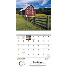 Customized Agriculture Spiral Calendar