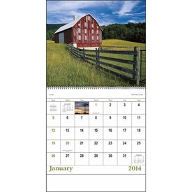 Agriculture Spiral Calendar for Customization