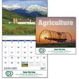 Agriculture Spiral Calendar Printed with Your Logo