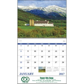 Agriculture Spiral Calendar with Your Slogan