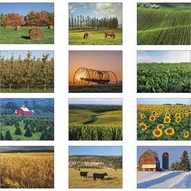 Imprinted Agriculture Spiral Calendar