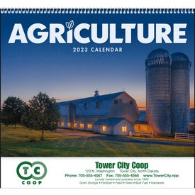 Agriculture Spiral Calendar Imprinted with Your Logo