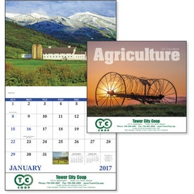 Agriculture Stapled Calendar with Your Slogan