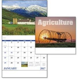 Agriculture Stapled Calendar Printed with Your Logo