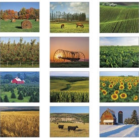 Agriculture Stapled Calendar for Advertising