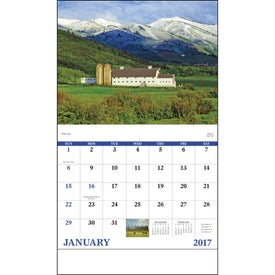 Printed Agriculture Stapled Calendar