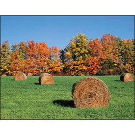 Monogrammed Agriculture Stapled Calendar