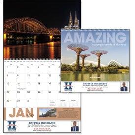 Amazing Accomplishments of Mankind Calendar for Customization