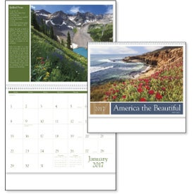 America the Beautiful with Recipes Calendar for Your Organization
