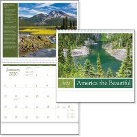 America the Beautiful with Recipes Calendar (2020)