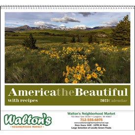 America the Beautiful with Recipes Calendar (2020)