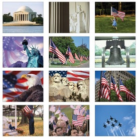 America Wall Calendar Imprinted with Your Logo