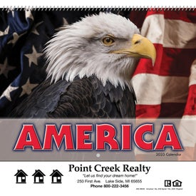 America Wall Calendar for Advertising