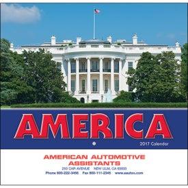 America Wall Calendar (Stapled)
