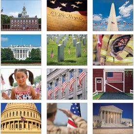 Monogrammed America Wall Calendar