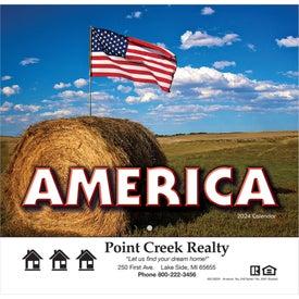 America Wall Calendar