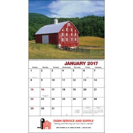 Imprinted American Agriculture Wall Calendar