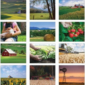 Printed American Agriculture Wall Calendar
