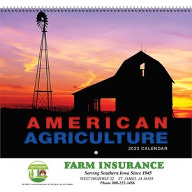 American Agriculture Wall Calendar for Your Organization