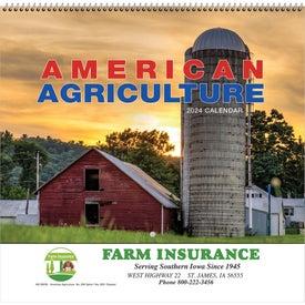 American Agriculture Wall Calendar (Spiral)