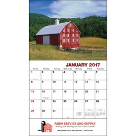 Customized American Agriculture Wall Calendar