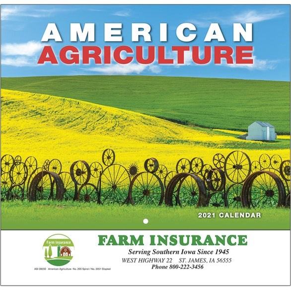 See Item American Agriculture Wall Calendar
